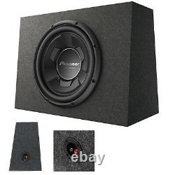1X Pioneer TS-WX126B 1300 Watts 12 Pre-Loaded Compact Subwoofer Enclosure Box