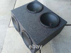 4 12 Subwoofer Box Sealed Planet Audio Speaker Enclosure Loaded Front & Top Fire