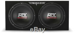 500W RMS Amplified Rockford Fosgate + MTX Dual Loaded Sealed Subwoofer Enclosure