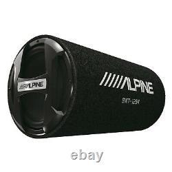 Alpine KTA-200M Mono Power Pack Amp with Alpine SWT-12S4 12 Loaded Tube Sub