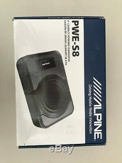 Alpine Pwe-s8 8 Loaded Under Seat Enclosure Box Subwoofer Speaker & Amplifier