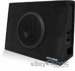 Alpine SBT-S10V 10 Inch 1000 Watt Loaded Ported Sub Box+Boss Amplifier+Amp Kit