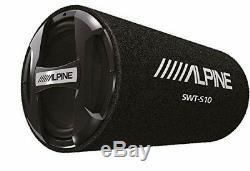 Alpine SWT-S10, Single 10 Loaded Subwoofer Bass Tube 1200W Peak Power