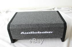 Audiobahn 10 1200W Car Truck Shallow Slim Loaded Boom Audio Sub box Quick SHIP