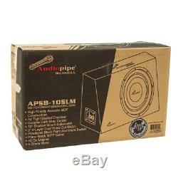 Audiopipe APSB-10SLM 400 W Max 10 4-Ohm Slim Sealed Loaded Subwoofer Enclosure