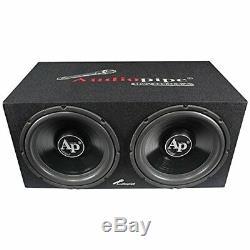 Audiopipe APSB1299PP Super Bass Combo Pack Dual 12 Loaded Box Amp Amp Kit