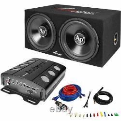 Audiopipe Apsb-1299pp Dual 12 Amplified Loaded Car Audio Subwoofer Enclosure