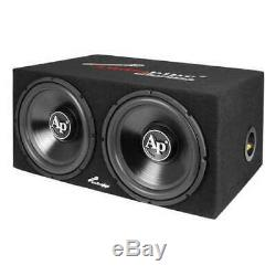 Audiopipe Loaded Dual 12 Subs Amp and Wire Kit Car Audio Package (Open Box)