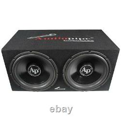 Audiopipe Super Bass Combo pack 600W Max Dual 12 Loaded Box Amp Kit APSB1299PP