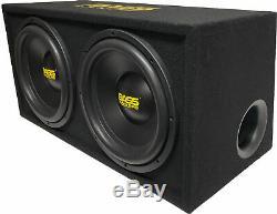 BR BB12D 2400W Max 12 Subwoofer Loaded Enclosure Box 1 Ohm Single Voice Coil