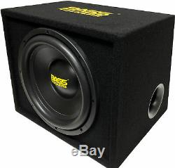 Bass Rockers BB12S 12 inch 1200W Loaded Subwoofer Enclosure Single Ported Box