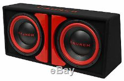 Crunch CR-212A 1000w Dual 12 Powered Loaded Subwoofers In Enclosure + Wire Kit