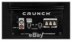 Crunch CR-212A 1000w Dual 12 Powered Loaded Subwoofers+Sub Box Enclosure CR212A