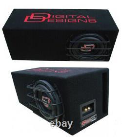 DD Audio LE-M308 Subwoofer Digital designs loaded enclosure 8 inch bass