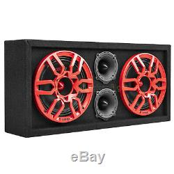DS18 Chuchero Box Fully Loaded Enclosure Dual 8 Mid Range Speakers 3 Tweeters
