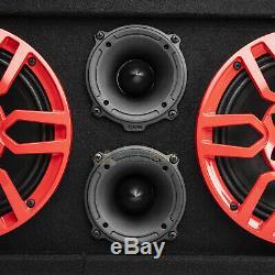 DS18 Chuchero Box Fully Loaded Enclosure Dual 8 Mid Range Speakers 3 Tweeters