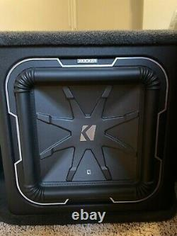 Dual Kicker L7 12 2-Ohm Q Class Loaded Subwoofer Enclosure