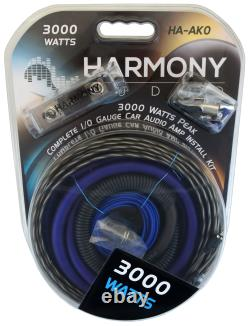 Harmony Audio A102 Triple 10 Subwoofer Loaded 2400 Watt Sub Box & HA-A1500.1 Amp