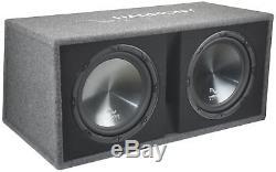 Harmony Audio HA-RD12 Car Rhythm Loaded Dual 12 Vented 1200W Sub Box Enclosure