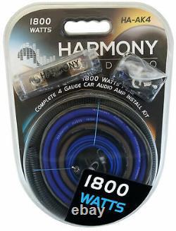 Harmony Audio R124 Triple 12 Subwoofer Loaded 1800 Watt Sub Box & HA-A800.1 Amp