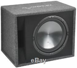 Harmony Audio Single 12 Loaded Sub Box Vented Enclosure & CXA400.1 Amp Package