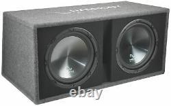 Harmony HA-RD12 Car Audio 1200W Loaded Dual 12 Sub Box & Kicker 43CXA12001 Amp