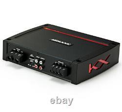 Harmony HA-RD12 Car Audio 1200W Loaded Dual 12 Sub Box & Kicker 44KXA8001 Amp