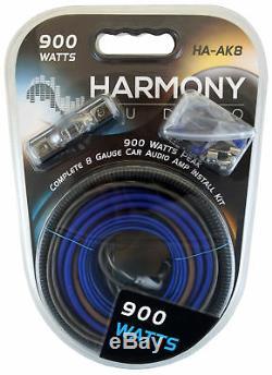 Harmony HA-RS15 Car Audio Loaded 15 Vented 900W Sub Box & Kicker 44KXA4001 Amp