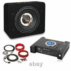 Infinity PRIMUS 1270B 12 Loaded Sub Enclosure + Planet Audio Amp + Amp Kit