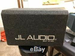 JL AUDIO HO110-W6V3 10 SUB 2-OHM LOADED ENCLOSURE With Grill Used 10W6v3-D4
