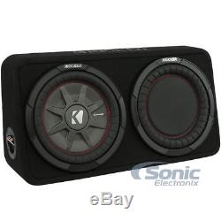 KICKER 400W CompRT Series 10 4-Ohm Loaded Subwoofer with Reflex Sub 43TCWRT104