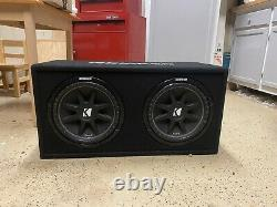 KICKER 43DC122 12 inch 600W Dual Car Audio Loaded Subwoofer Enclosure