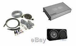 KICKER 43TCWRT124 1000W 12 Loaded Enclosure + 2-Channel Amplifier & Amp Kit
