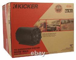 KICKER 46CWTB102 TB 10 800w Marine Loaded Subwoofer Enclosure+Passive Radiator