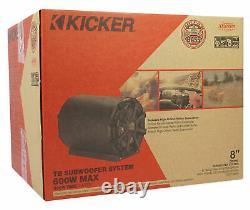 KICKER 46CWTB84 8 600w Marine Loaded Subwoofer Enclosure+Passive Radiator TB8