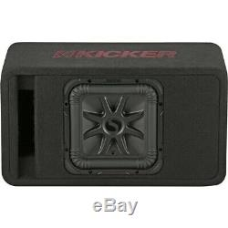 KICKER Solo-Baric L7R 10 Single-Voice-Coil 2-Ohm Loaded Subwoofer Enclosur