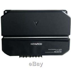 Kenwood 10 Inch Car Loaded Vented Subwoofer & 500W Amplifier Package (Open Box)