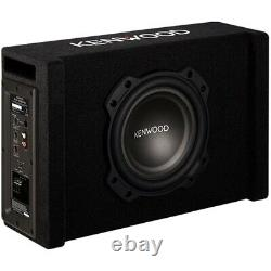Kenwood 8 Single-Voice-Coil Loaded Subwoofer Enclosure with Integrated Amp
