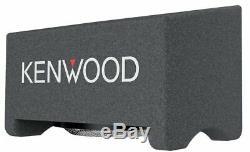Kenwood P-XW1241S 600W Max Single 12 Pre-loaded Car Subwoofer Box Enclosure