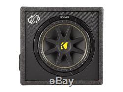 Kicker 10VC124 Single Comp 12 Sub Vent Box