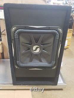 Kicker 11S15L7 Loaded in Atrend 4.5 cbf Vented Box Carbon Fiber Front