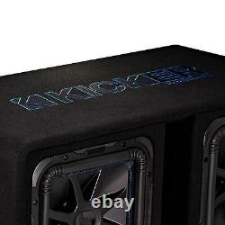 Kicker 12 3000W Dual Loaded Solo-Baric L7S Subwoofer Enclosure 44DL7S122