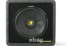 Kicker 12 600W 4 Ohm Vented Loaded Subwoofer Enclosure Box Car Audio speaker