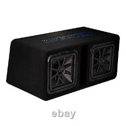 Kicker 12 Inch 3000W Dual Loaded Solo Baric L7S Subwoofer Enclosure (2 Pack)