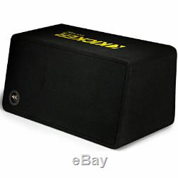 Kicker 12 Single Loaded Vented Enclosure Subwoofer+Monoblock Amplifier+Amp Kit