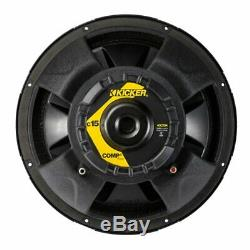 Kicker 15 600W Dual Loaded Subwoofer Box with 2000W 4-Ch. Amplifier & Wiring Kit