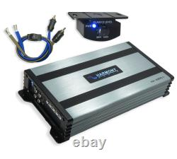 Kicker (2) 46TL7T84 Car Audio L7T Loaded Square 8 Thin Sub Box & HA-A800.1 Amp