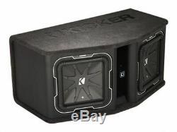 Kicker 41DL7122 Dual 12 L7 2-Ohm 1800W Loaded Subwoofer/Subs Enclosure/Box