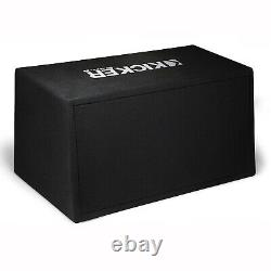 Kicker 43DC122 12 Inch 600 Watt Comp Dual Car Audio Loaded Subwoofer (4 Pack)
