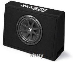 Kicker 43TC104 Single 10-Inch Comp 4 Ohm 150W Loaded Subwoofer Sub Enclosure Box